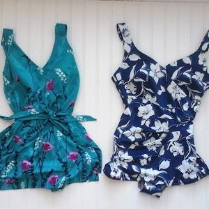 """Vintage One Piece Bathing Suits """"Set of 2"""" ☀"""